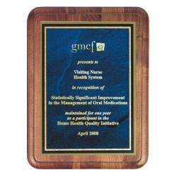 WALNUT PLAQUE W/RADIUS CORNER