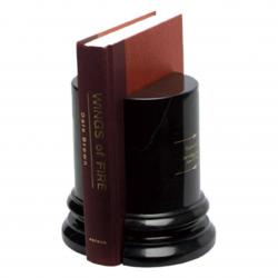 BLACK MARBLE ROUND BOOKEND OR (SET OF 2)