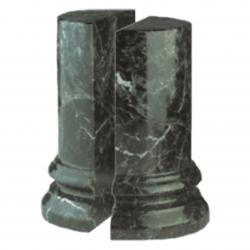 GREEN MARBLE ROUND BOOKEND OR (SET OF 2)