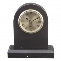 BLACK MARBLE TOMB CLOCK
