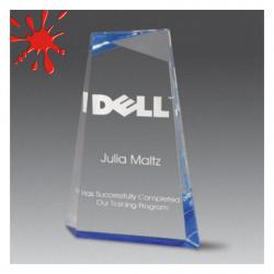 ACRYLIC WEDGE FACET AWARD