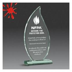 ACRYLIC BEVELED FLAME AWARD