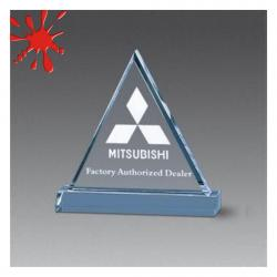 ACRYLIC BEVELED TRIANGLE AWARD
