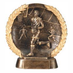 BASKETBALL (MALE) WREATH RESIN