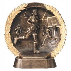 BASKETBALL (FEMALE) WREATH RESIN