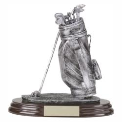 GOLF BAG RESIN TROPHY