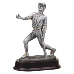 BASEBALL BAT DOWN (M) RESIN TROPHY