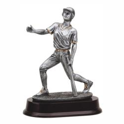 BASEBALL BAT DOWN (F) RESIN TROPHY