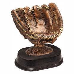 BASEBALL GLOVE RESIN TROPHY
