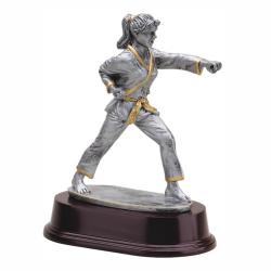 KARATE STANCE (FEMALE) RESIN TROPHY