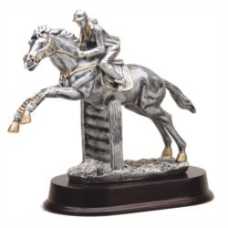 JUMPING HORSE (FEMALE) RESIN TROPHY