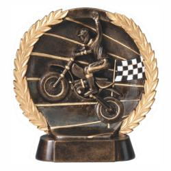 MOTORCROSS WREATH RESIN