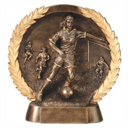SOCCER (FEMALE) WREATH RESIN