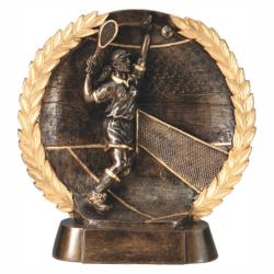 TENNIS (FEMALE) WREATH RESIN