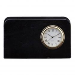 BLACK MARBLE MINI PLAQUE CLOCK