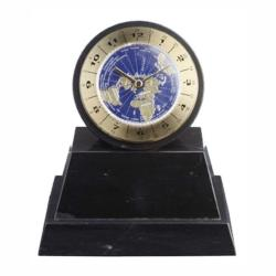 BLACK MARBLE WORLD CLOCK