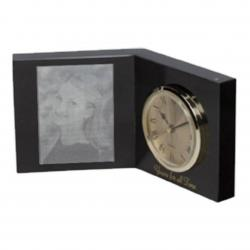 BLACK MARBLE OPEN BOOK CLOCK