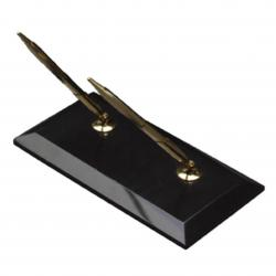 BLACK MARBLE DOUBLE PEN STAND