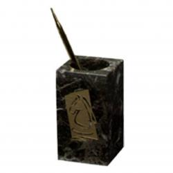 GREEN MARBLE PENCIL/PEN HOLDER