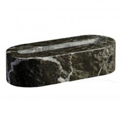 GREEN MARBLE OVAL BUSINESS CARD HOLDER