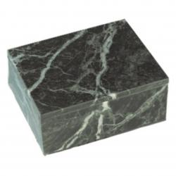 JADE GREEN MARBLE BOX W/ REMOVABLE LID