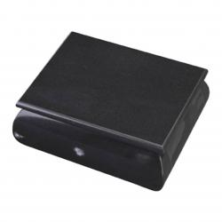 BLACK MARBLE BOX W/ ROUNDED SIDE & HINGED LID