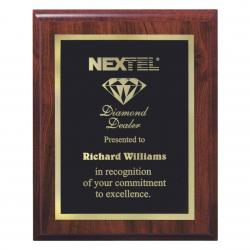 WALNUT FINISH VENEER PLAQUE