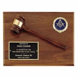 8 X 10 WALNUT GAVEL PLAQUE