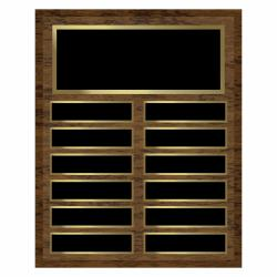 12 X 15 - 12 WALNUT SOM PLAQUE