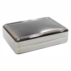 LARGE SILVER PLATED JEWELRY BOX