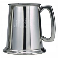 16oz BRIGHT PEWTER TANKARD