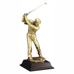 GOLD METALLIC MALE GOLFER