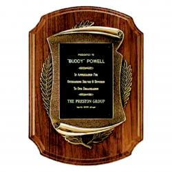 11 X 15 BRONZE SCROLL PLAQUE