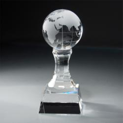 CRYSTAL GLOBE ON COLUMN