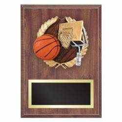 BASKETBALL PLAQUE WITH RESIN RELIEF