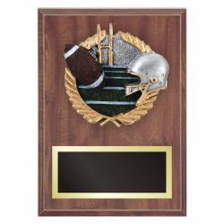 FOOTBALL PLAQUE WITH RESIN RELIEF