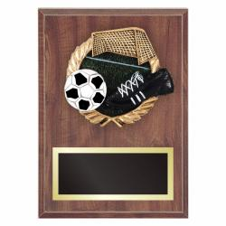 SOCCER PLAQUE WITH RESIN RELIEF