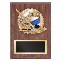 HOCKEY PLAQUE WITH RESIN RELIEF