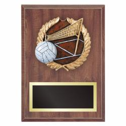 VOLLEYBALL PLAQUE WITH RESIN RELIEF