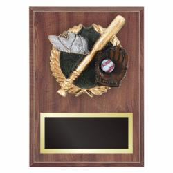 BASEBALL PLAQUE WITH RESIN RELIEF