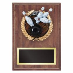 BOWLING PLAQUE WITH RESIN RELIEF