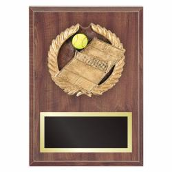 TENNIS PLAQUE WITH RESIN RELIEF