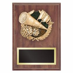 CHEERLEADING PLAQUE WITH RESIN RELIEF