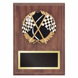 RACING PLAQUE WITH RESIN RELIEF