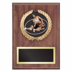 WRESTLING PLAQUE WITH RESIN RELIEF