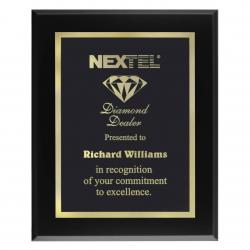 BLACK VENEER PLAQUE