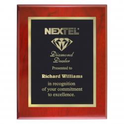 HIGH GLOSS MAHOGANY FINISH PLAQUE