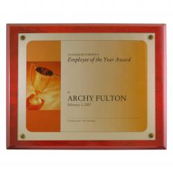 MAHOGANY FINISH CERTIFICATE PLAQUE