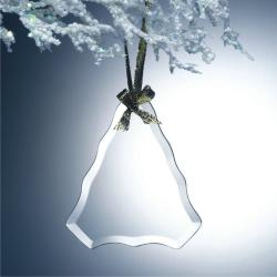 BEVELED JADE GLASS TREE ORNAMENT