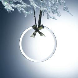 BEVELED JADE GLASS ROUND ORNAMENT